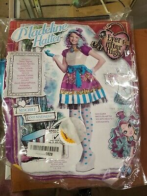 Madeline Hatter Costume (Ever After High Madeline Hatter Girls' Child Halloween Costume)