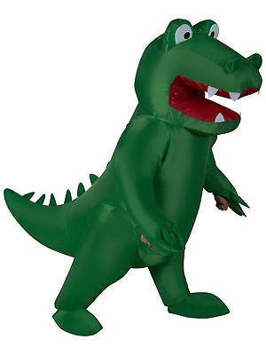 BRAND NEW Inflatable Alligator Dinosaur Crocodile Adult Green Costume - Crocodile Adult Costume
