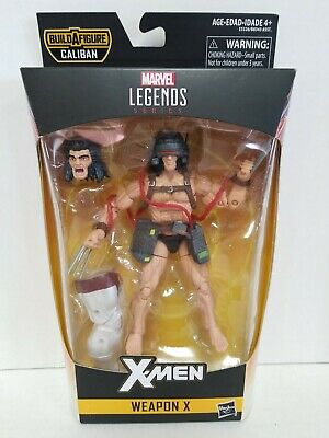 "Hasbro Marvel Legends X-Men Series 6"" Wolverine Weapon X Figure w/ Caliban BAF"