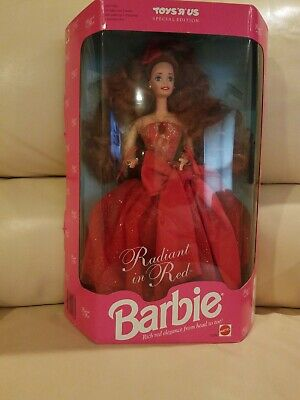 Vintage Mattel 1992 Toys R Us Special Edition Radiant In Red Barbie #1276