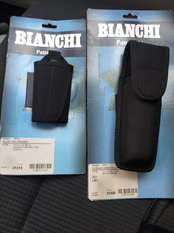 Bianchi 31313 Black 8016 Patrol Tek Silent Key Holder And 8007 31306 Spray Pouch