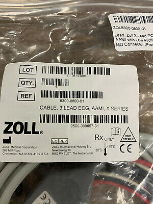 Zoll X Series Ecg Cable New Pn 8300-0800-01