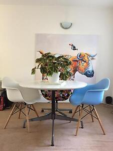 Round white dining table with Eames base (105cm diameter) Bronte Eastern Suburbs Preview