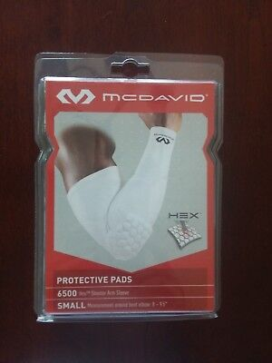 6769ae4797 McDavid Hex Shooter Arm Sleeve, Small, Measurement Around Bent Elbow 8-9.5