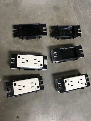 Lot Of Knoll Cubicle Furniture Electric Outlet Receptacles For Wsl Panels