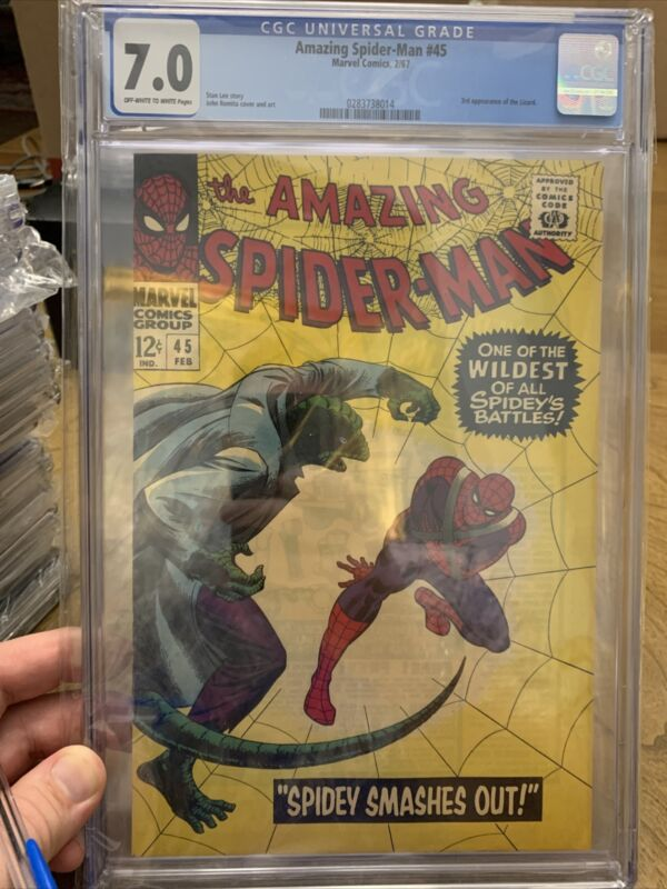 The Amazing Spider-Man #45 CGC 7.0 3rd Appearance of the Lizard 🔥