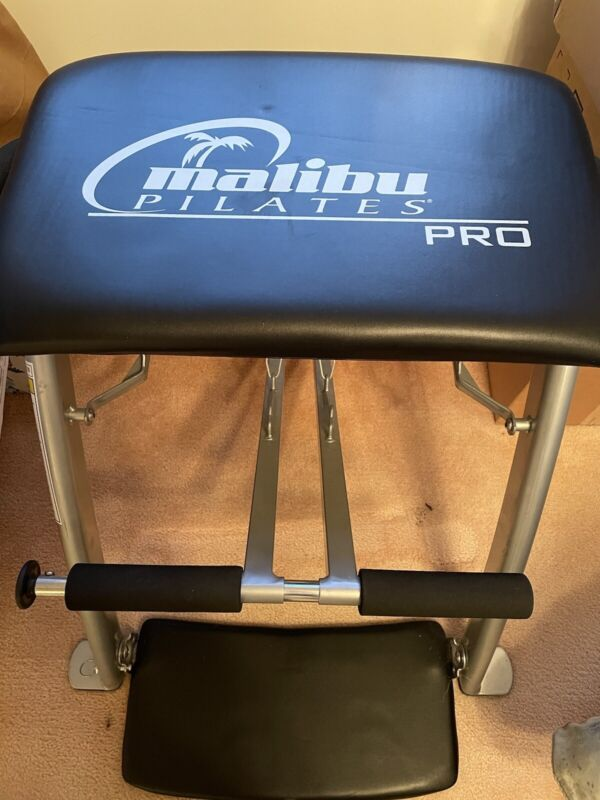Malibu Pilates Pro Workout Chair Fitness Exercise Equipment With 3 Workout DVDs