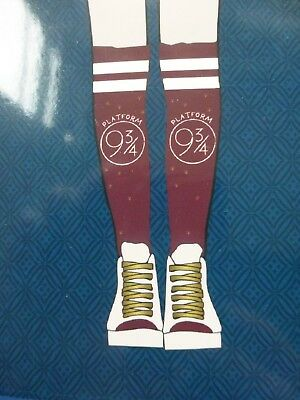 PAIR OF LADIES KNEE HIGH SOCKS HARRY POTTER PLATFORM 9 3/4 UK SIZE 4-8 Bday gift