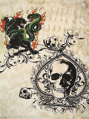 (Black Panther Snake Skull Chaos Spirit Fight Colle Graphic Print T Shirt 2XL)