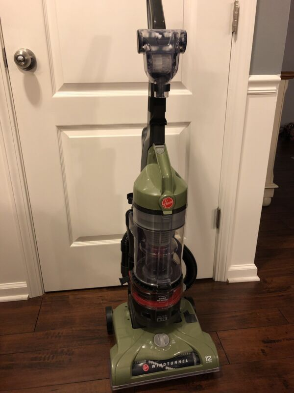 Hoover T Series WindTunnel Rewind Bagless Upright Vacuum Cleaner Clean Easy Cyclonic Upright Vacuum, 15.7 lbs, Slate Metallic Sage Green Metallic UH70120