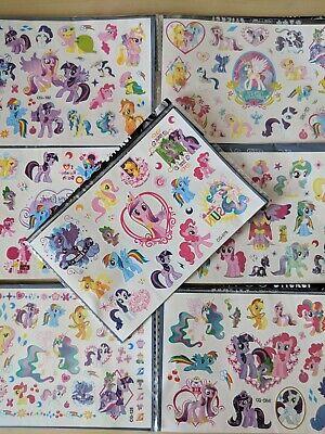 My Little Pony Tattoos (MY LITTLE PONY UNICORNS Childrens Kids Temporary Tattoos US seller 7 PC)