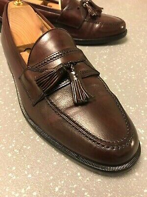Men's Johnston & Murphy Burgundy Leather Tassel Loafers UK 8.5 EU 4.5 US 9.5 M