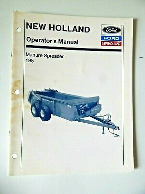 New Holland Manure Spreader 195 Operators Manual