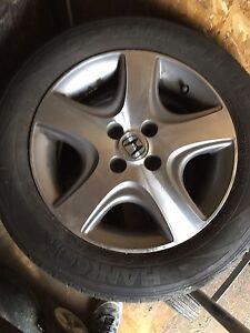 Honda Civic summer tires and rims