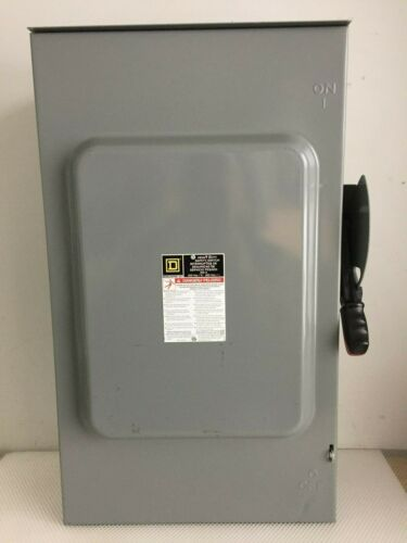 SQUARE D H364RB 200 AMP 600 VOLT 3 PHASE OUTDOOR FUSED DISCONNECT..D-532