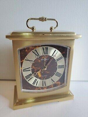 Vintage HOWARD MILLER Conoco Brass Clock #4RE603 Made in Japan Tabletop Mantle