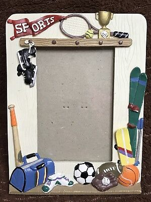 Sports Picture Frame Bat Ball Soccer Skates Trophy  Winner Boy Girl Display  G