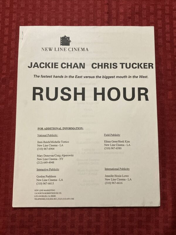 Rush Hour Production Notes 1998 Jackie Chan Chris Tucker