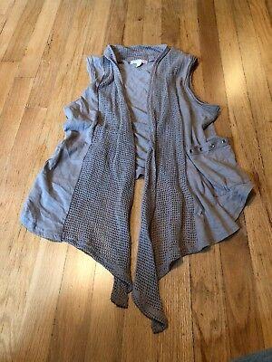 - GB Women's Gray Net Studded Vest Size Small