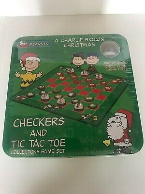 A Charlie Brown Christmas Checkers and Tic Tack Toe Collectors Game Set USAopoly