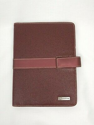 Franklin Covey Notepadfolio Faux Leather Pebble Cover 9 X 7