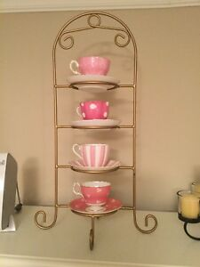 Pink cups and saucers,bone china