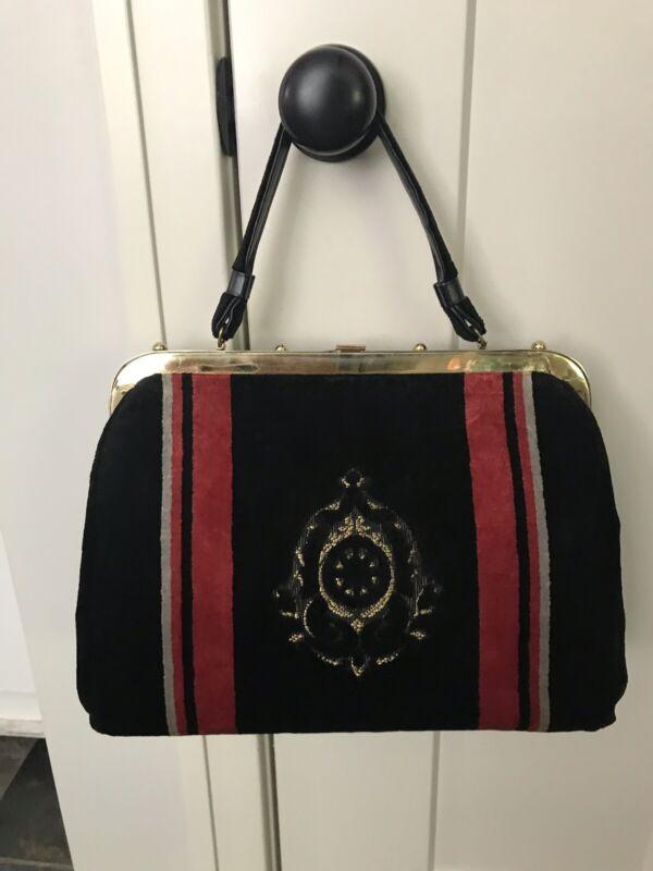 Markay Vintage Velvet Handbag Satchel
