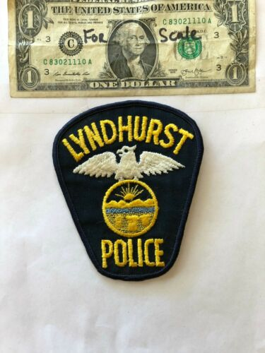 Lyndhurst Ohio Police Patch un-sewn in great shape