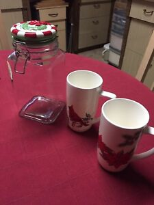 Canister and mugs