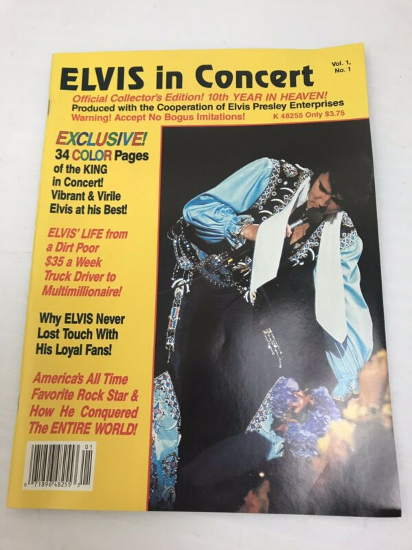Fan Magazine Elvis IN Concert , 1987, Hollywood,Army,Photos Galore!