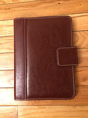 Franklin Covey Redbrown Classic 7 Ring Binder Faux Leather Excellent Condition