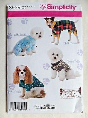 SIMPLICITY CRAFT PATTERN 3939  JACKETS  DOG CLOTHES SIZES S M L  UNCUT