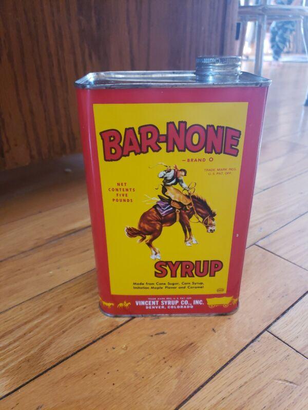 BAR-NONE Syrup Tin