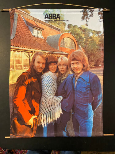 ABBA Wall Scroll #1 outside building Reg Grundy Productions Australia