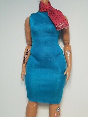 COCKTAIL C ~ DRESS ~ BARBIE DOLL MARY POPPINS RETURNS BLUE SLEEVELESS CLOTHING