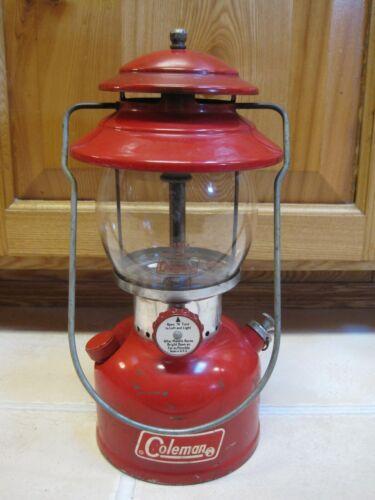 Vintage 1971 Red COLEMAN 200A Lantern SINGLE MANTLE