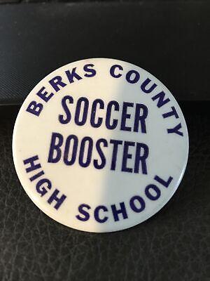 Berks County High School Soccer Booster pinback button sports