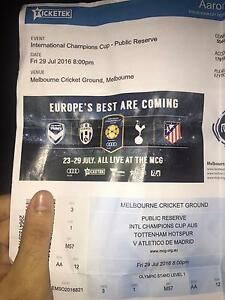 International Champions Cup Tottenham vs Atletico Madrid 29 July Mount Waverley Monash Area Preview