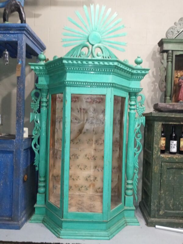 SHRINE NICHE LARGE ESCAPERATE 84in (7ft) Tall ANTIQUE  HOME  CHURCH