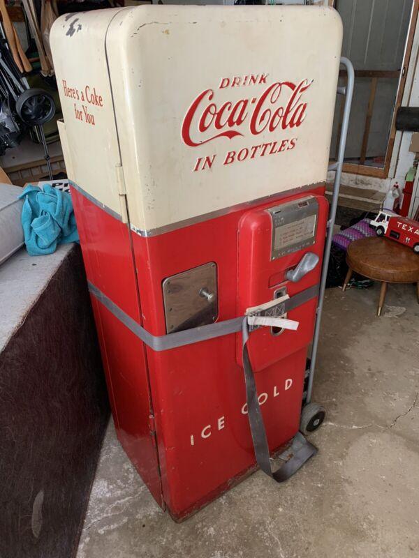Vintage Cavalier C51 Coca-Cola Vending Machine w/ Bottles