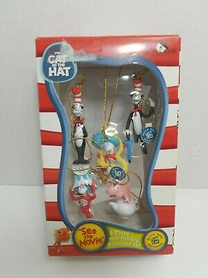 Dr Seuss The Cat In The Hat Collectible Figure Gift Set NIB 5 Movie Characters