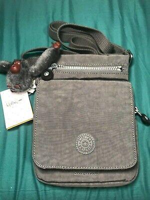 Kipling El Dorado Dusty Grey Crossbody Travel Organizer Bag