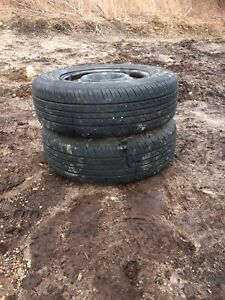Two tires 185/70r14 lots of tread text 902 222-5775