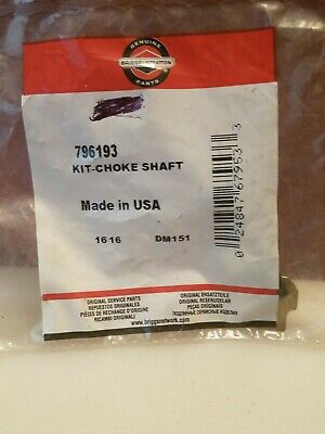 Genuine Briggs & Stratton Choke Shaft Kit 796193 - OEM Packaging - NEW- BG7
