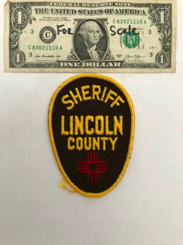 Lincoln County New Mexico Police Patch Un-sewn great condition