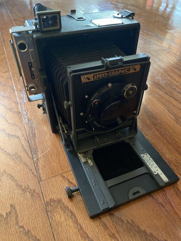 Graflex Speed Graphic Pre Anniversary 4x5 Camera w/ Bausch Lomb Tessar Ic 6 3/8