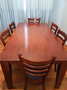 Wooden Dining Table With 6 chairs Marion Marion Area Preview