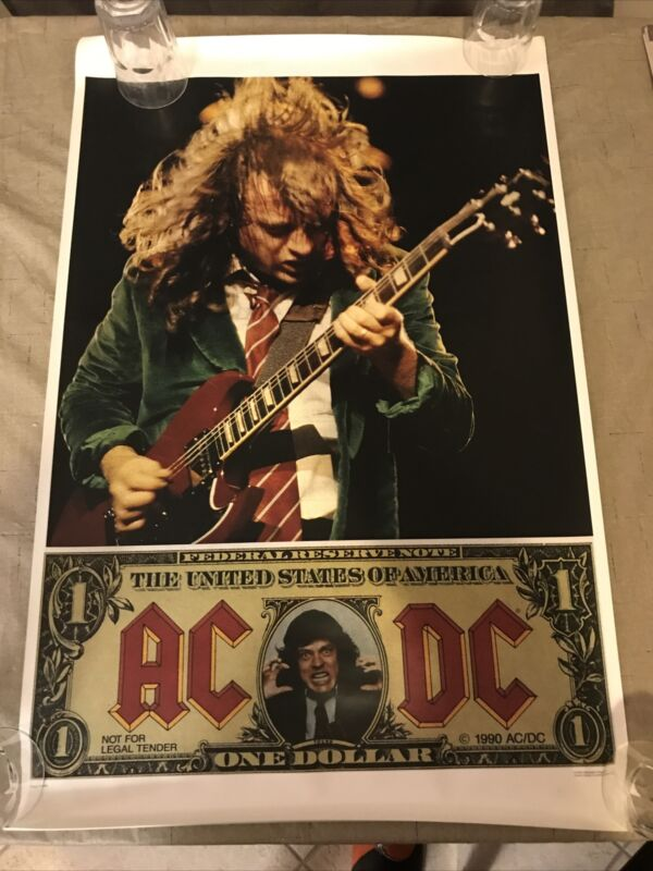 Acdc Money Talks Promo Poster 34x22 Mint