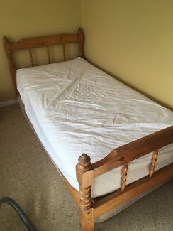 Wooden single beds x 2
