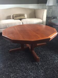 Vintage Restored Danish Modern Dodecagon Teak Coffee Table